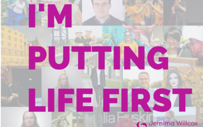 I'm putting life first