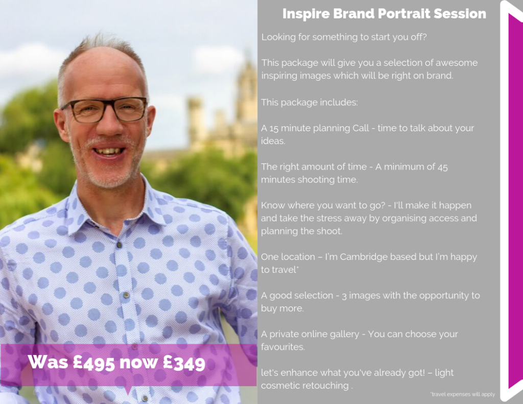 Cambridge Social Media Day Inspire Brand Portrait Special Offer