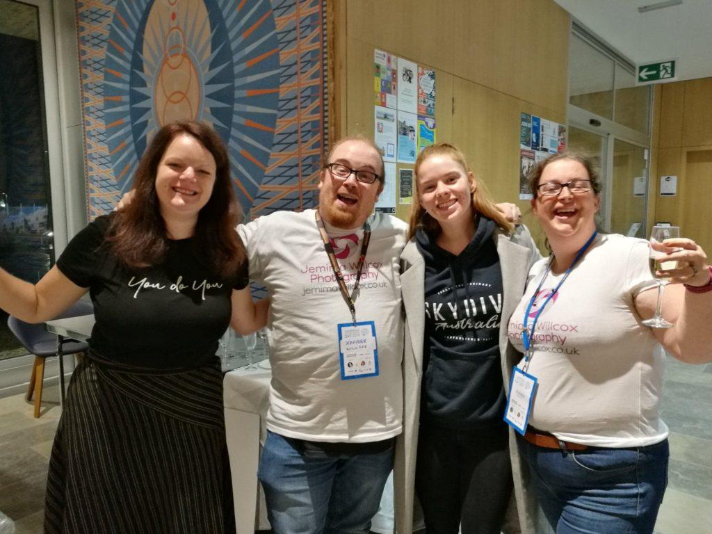 Lenka Koppova, Xander Willcox, Jess Brittian and Jemima Willcox at Cambridge Social Media Day