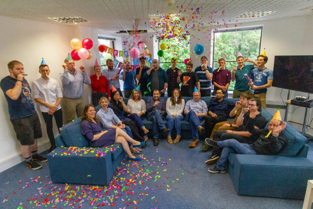 VNC Automotive Staff First Birthday Group Shot